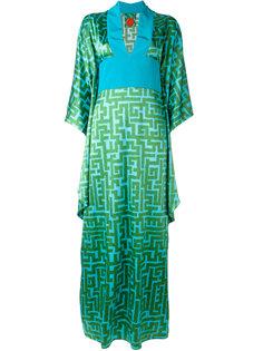 длинное платье с геометрическим узором Ultràchic