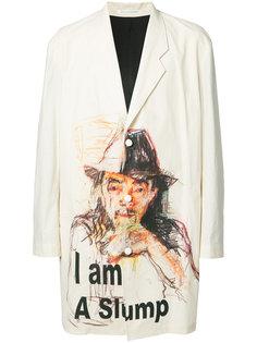 three button printed jacket  Yohji Yamamoto