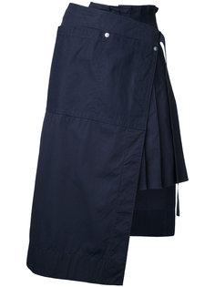 асимметричная юбка со складками Sacai