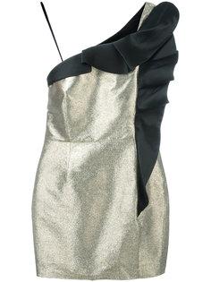 блестящее платье с отделкой в складку Christian Pellizzari