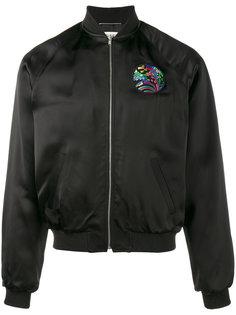 куртка-бомбер с вышивкой акулы Saint Laurent