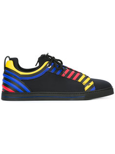 primary colour stripe trainers Fendi
