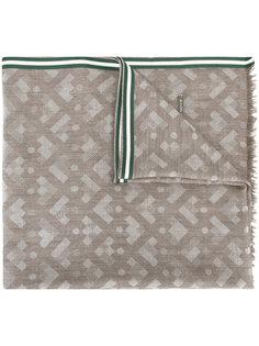 шарф с геометрическим принтом Bally