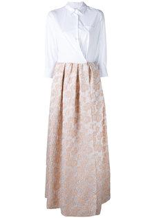 платье с контрастными панелями Sara Roka