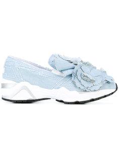 джинсовые кроссовки с цветочным украшением Suecomma Bonnie
