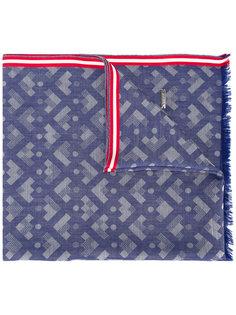 шарф с геометрическим узором Bally