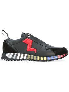 lightning bolt appliqué sneakers Fendi