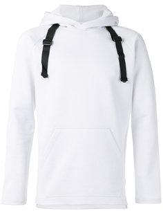 buckle strap hoodie Y-3