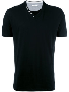 футболка с V-образным вырезом на пуговицах Paolo Pecora