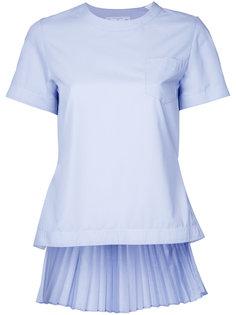 блузка с плиссированной спинкой Sacai
