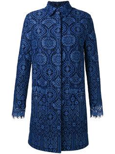 пальто миди с фестонами MSGM