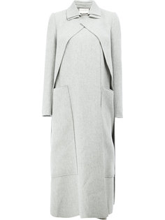 concealed fastening double-breasted coat Maison Rabih Kayrouz