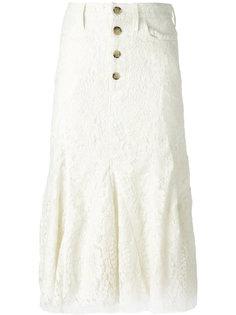 кружевная юбка с плиссированным подолом Victoria Beckham
