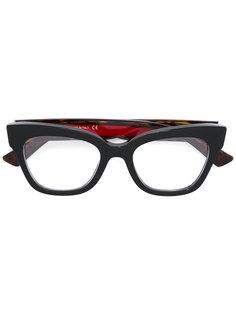"""очки с оправой """"кошачий глаз"""" Gucci Eyewear"""