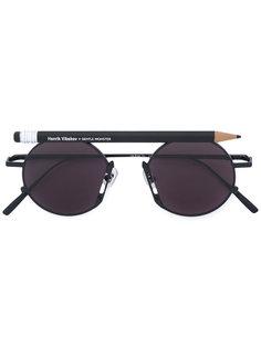 pen motif round sunglasses Henrik Vibskov