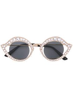 декорированные солнцезащитные очки Gucci Eyewear