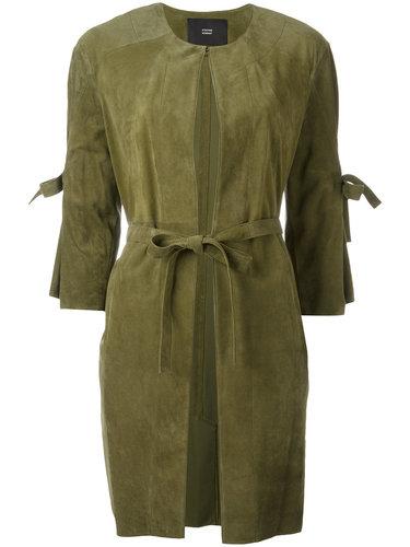 пальто с панельным дизайном и поясом Steffen Schraut