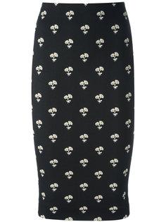 облегающая юбка с цветочным принтом Victoria Beckham