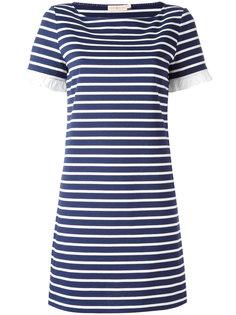 полосатое мини-платье  Tory Burch