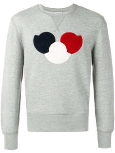 chest logo sweatshirt Moncler