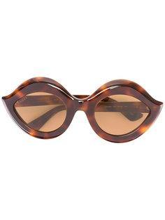 солнцезащитные очки с фигурной оправой Gucci Eyewear