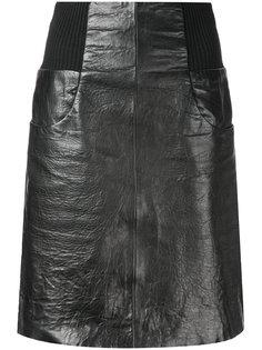кожаная мини-юбка Kitx
