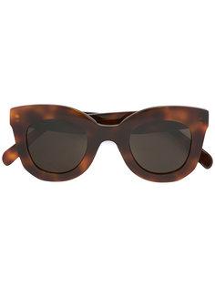 солнцезащитные очки с узором черепашьего панциря Céline Eyewear