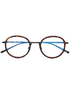 очки с узором черепашьего панциря  Saint Laurent