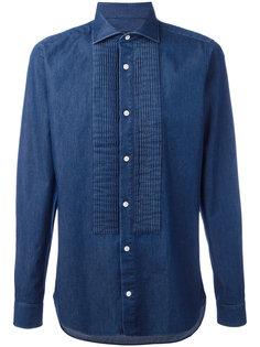 джинсовая рубашка с ребристыми панелями Z Zegna