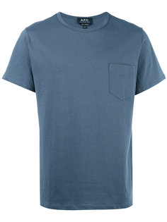 футболка с нагрудным карманом A.P.C.