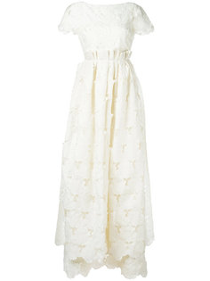 длинное кружевное платье  Rochas