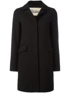пальто с классическим воротником Herno