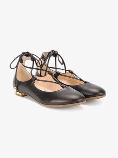 балетки на шнуровке Mini Christy Aquazzura Mini