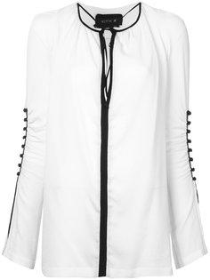 блузка с присборенными рукавами Kitx