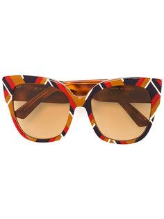 солнцезащитные очки с геометрическим принтом Gucci Eyewear