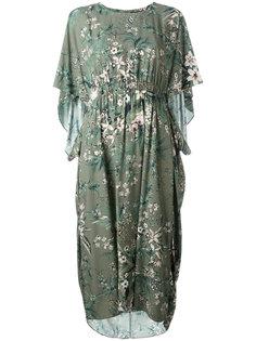 платье длины миди с цветочным рисунком Steffen Schraut