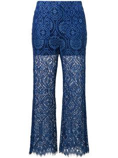 прозрачные брюки с фестонами MSGM