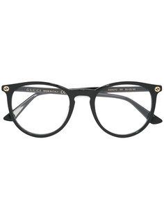 очки с круглой оправой Gucci Eyewear