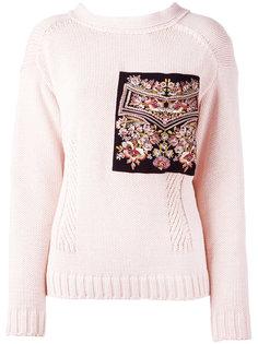 свитер с вышивкой Nº21