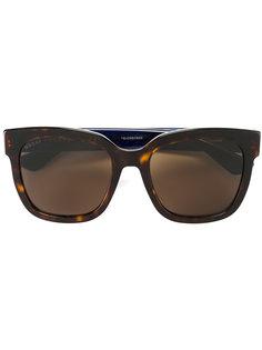 солнцезащитные очки с узором черепашьего панциря Gucci Eyewear