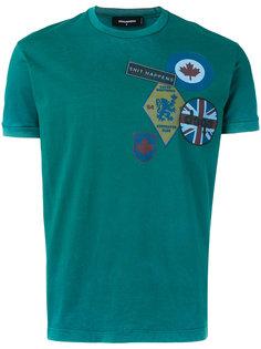 футболка с принтом слогана Dsquared2