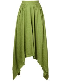 присборенная струящаяся юбка  Kitx
