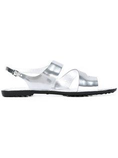 металлизированные сандалии с ремешком Tods Tod`S
