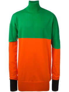 roll neck bicolour jumper J.W.Anderson