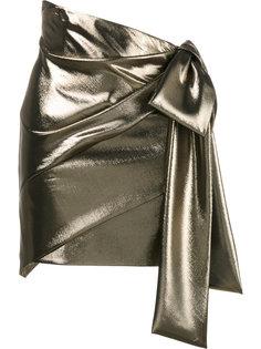 драпированная мини юбка Saint Laurent