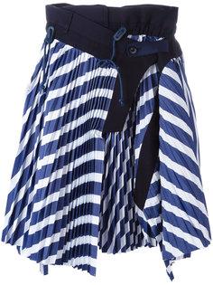 плиссированная юбка Sacai