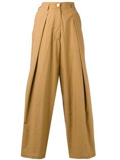 укороченные плиссированные брюки Forte Forte
