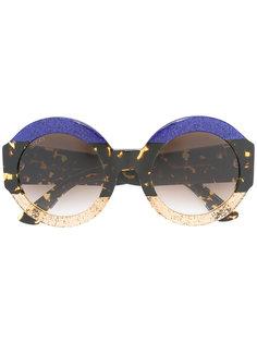 солнцезащитные очки с блестящей отделкой Gucci Eyewear