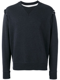 snap button felpa sweatshirt Maison Margiela