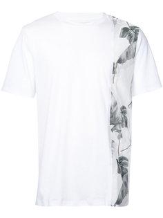 футболка с отделкой с рисунком Oamc